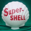 Shell Brand Clam One Piece Glass Gas Pump Globes
