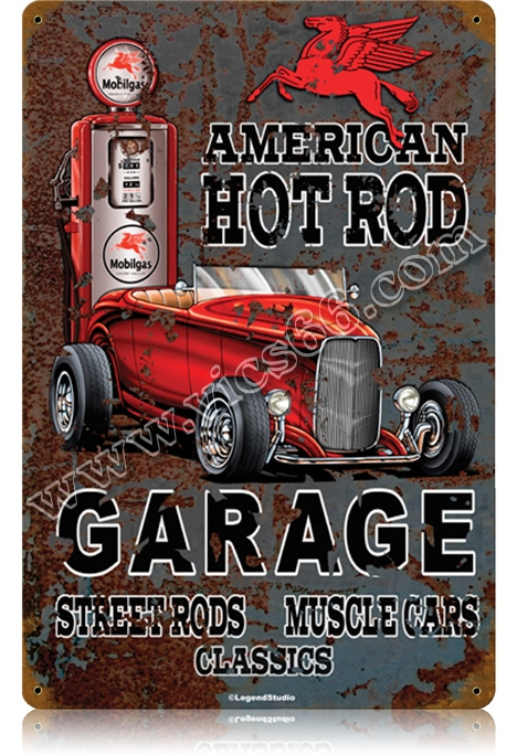 Hot Rod Amp Street Rod Garage Signs Vic S 66 Gas Pump