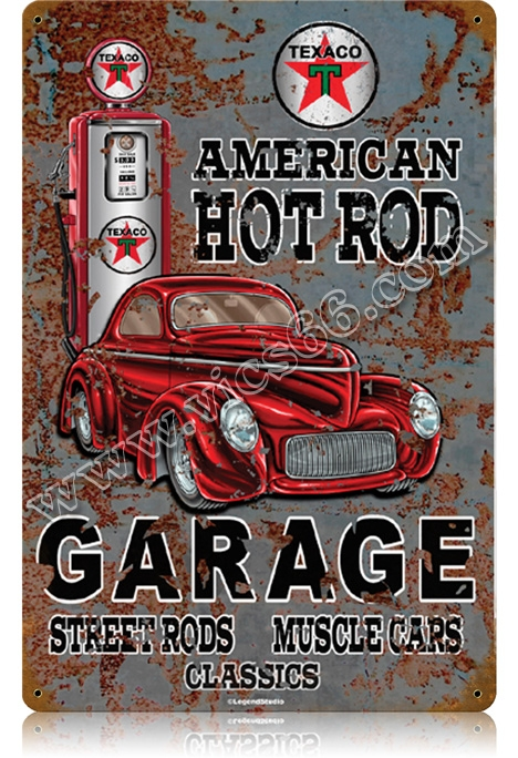 American Hot Rod Texaco Garage Sign 18