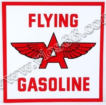 Gas Pump & Oil Lubster Vinyl Decals - Vic's 66 - Gas Pump