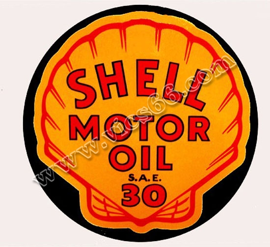 Shell motor oil bottle decal wdc 111c