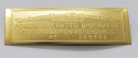 ID-163 Underwriters Lab Brass Embossed Tag for Power Operated Pumps